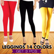 GET 3pcs Celana Legging Panjang Aneka Warna / Ukuran All Size Dan Jumbo / Harga Grosir / Best Seller