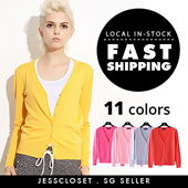 Fast shipping - High quality basic cardigan 1103