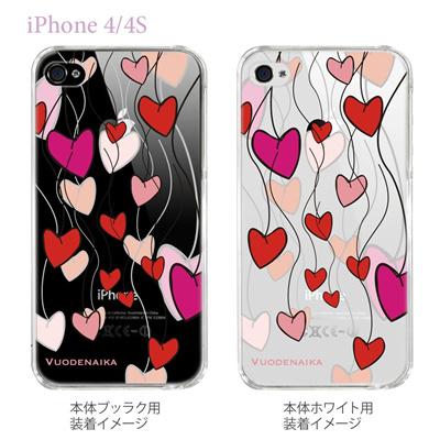 【Vuodenaika】【iPhone4/4Sケース】【カバー】【スマホケース】【クリアケース】【フラワー】 21-ip4-ne0021caの画像