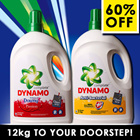 [PnG] 12KG CARTON DEAL! DYNAMO- Simply the BEST Liquid Detergent - Anti-bacterial - Colour - Washes Clothes Perfectly and Remove Stains Gently with Refreshing Fragrance.