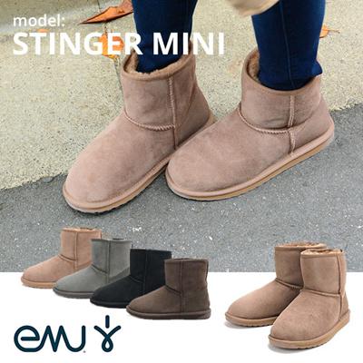 2015新作 emu エミュ ムートンブーツ レディース W10003 STINGER MINI  ムートン ブーツ 通販 同梱不可の画像
