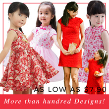 NEW ❤ CNY2019 Girls Cheongsam Dress/ Tops (Mother sizes available)