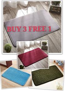 [MUST BUY] Memory Foam Bathroom Rug / Anti Slip/ Microfiber / Fluffy / Floor Mat