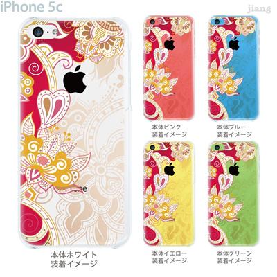 【iPhone5c】【iPhone5cケース】【iPhone5cカバー】【ケース】【カバー】【スマホケース】【クリアケース】【フラワー】【レトロフラワー】 06-ip5c-ca0101の画像