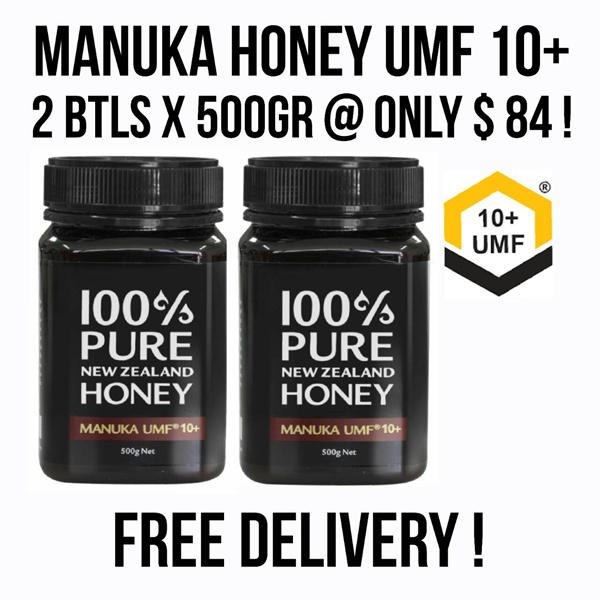 **LIMITED TIME OFFER!** 2 btl of Manuka Honey UMF 10+ for ONLY $84 Deals for only S$100 instead of S$0