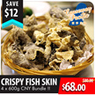 [USE QOO10 $10 COUPON to get $58!][BUNDLE OF FOUR PROMO] Causeway Bay Crispy Fish Skin - Best Combination For Steamboat X 4 Pack (600g Per Pack)