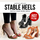 FREE SHIPPING ★Stable Heels to Match Your Work Dress ★ Match Anything!!! Stable High Heels