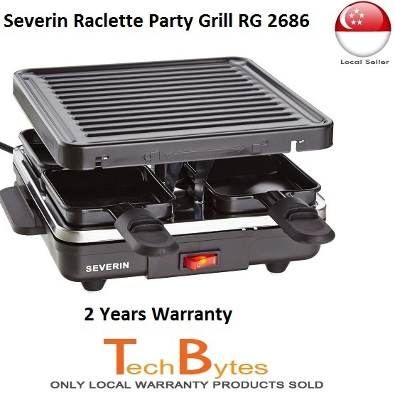 qoo10 severin raclette grill rg 2686 non stick coated. Black Bedroom Furniture Sets. Home Design Ideas