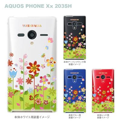 【AQUOS PHONEケース】【203SH】【Soft Bank】【カバー】【スマホケース】【クリアケース】【Vuodenaika】【フラワー】 21-203sh-ne0036caの画像