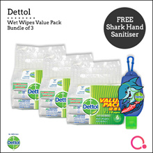 [RB]【Bundle of 3】Dettol Anti Bacterial Wet Wipes Value Pack - 30 sheets | From Singapore