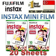 [SALES]Fujifilm Instax mini Plain film 2 packs 20 sheets for Mini 8 Mini 7s Mini 25 Mini 50s Mini 90