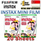 [SALES]Fujifilm Instax mini Plain film 2 packs 20 sheets for Mini 8 Mini 7s Mini 25 Mini 50s Mini 90 share