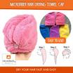 [Must Buy]Microfiber Hair Drying Towel Cap /Fast dry/Four color options