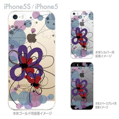 【iPhone5S】【iPhone5】【Vuodenaika】【iPhone5ケース】【カバー】【スマホケース】【クリアケース】【フラワー】 21-ip5-ne0034の画像