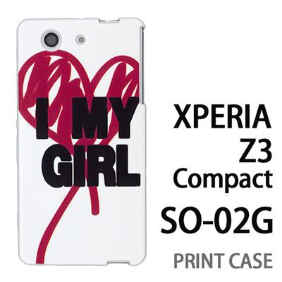 XPERIA Z3 Compact SO-02G 用『0116 アイマイガール 白×赤』特殊印刷ケース【 xperia z3 compact so-02g so02g SO02G xperiaz3 エクスペリア エクスペリアz3 コンパクト docomo ケース プリント カバー スマホケース スマホカバー】の画像