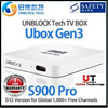 ♛★FREE SHIPPING+FREE I8 AIRMOUSE★SUPER DEAL!!★UNBLOCK Tech TV BOX Ubox X3 Gen3 S900 Ultimate Pro SG Version/SG Local Support Warranty/1G RAM/16G Storage / 1500+ Free Channels IN THE PRICE OF ONE!!!