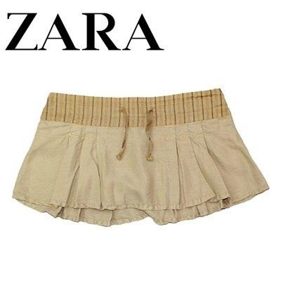 【クリックで詳細表示】ZARA ザラレディース TRF Cllection ザラ ミニスカート6394-002-707 ベージュ【Luxury Brand Selection】スカート ザラ