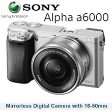 Sony Alpha a6000 Mirrorless Digital Camera with 16-50mm Lens kit