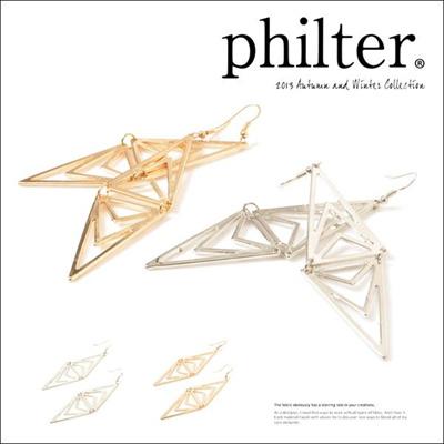 フィルター philter トライアングルリフレクトピアス アクセサリー 取寄商品の画像