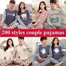 2017 New Update!Couple Pajamas/Top and bottom Set/COUPLES SLEEPWEAR/Nightdress/Sleeveless Short-sleeve Long-sleeve Homewear/Cute Cartoon Design/For Man`Woman/Lovely couple pajamas/ kids pajamas hot