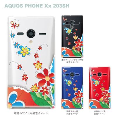 【AQUOS PHONEケース】【203SH】【Soft Bank】【カバー】【スマホケース】【クリアケース】【Vuodenaika】【フラワー】 21-203sh-ne0035caの画像