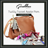 Cute Fun And Classy Twilly Tassel Apple Pom Furball Poms And Synthetic Fake Rabbit Bag Charms/ Key Rings/ Keychains