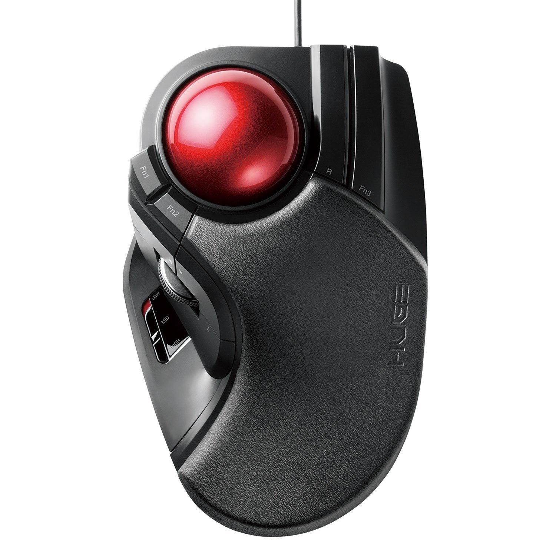 ELECOM USB Wired Trackball Mouse Large M-HT1URXBK
