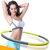 Fitness Exercise Hula Hoop 2.65 lbs Weighted Core Toning Foldable Hula Hoop Elastic foam  90cm