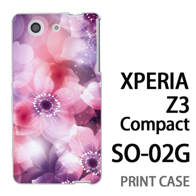 XPERIA Z3 Compact SO-02G 用『0116 きらきら花びら ピンク』特殊印刷ケース【 xperia z3 compact so-02g so02g SO02G xperiaz3 エクスペリア エクスペリアz3 コンパクト docomo ケース プリント カバー スマホケース スマホカバー】の画像