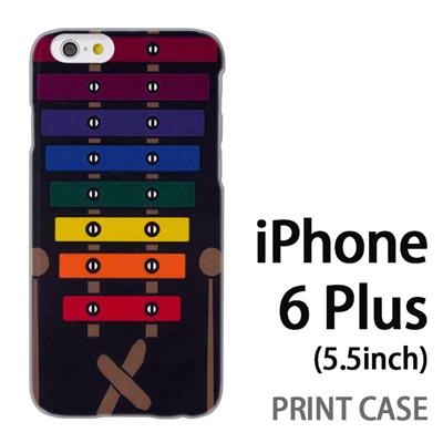 iPhone6 Plus (5.5インチ) 用『No1 X_木琴 黒背景』特殊印刷ケース【 iphone6 plus iphone アイフォン アイフォン6 プラス au docomo softbank Apple ケース プリント カバー スマホケース スマホカバー 】の画像