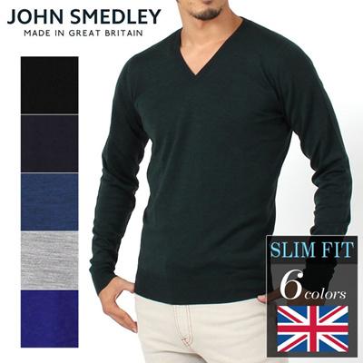 JOHN SMEDLEY ジョンスメドレー  KENDAL PULLOVER ケンダル プルオーバー スリムフィット Vネック ニット メンズの画像
