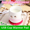 ★IMP HOUSE★[USB Cup Warmer]Say goodbye to freezing cup!!!keep warm!!/ Heating cup mat/ Convenient and useful/ Cute gift/ Mini size/ Creative design/ Keep your cups warm 24 hours