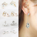 [HowDY]♡ Earring - Silver Pin ♡ Korea Fashion Accessories / Jewelry