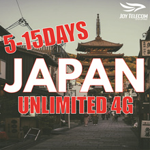【5/7/8/15 Days Japan Unlimited Data Prepaid SIM Card】UNLIMITED 4G NO SLOW DOWN