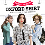 Grid Oxford Shirt~ Korean Style