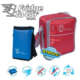 Portable Cooler Bag - Fridge To Go (Great for keeping food breast milk and drinks really cool!)