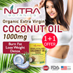 ★1+1★Nutra Botanics Organic Extra Virgin Coconut Oil 1000mg ♡ 60's Softgels Per Bottle ♡ Lose Weight