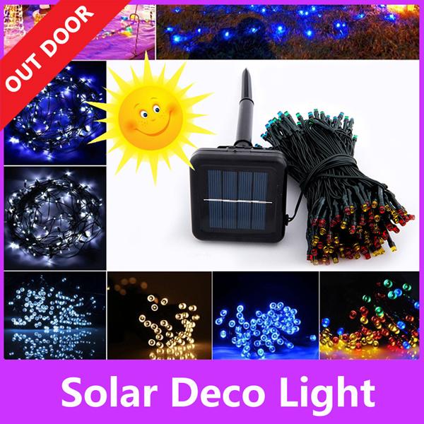solar light 12 22 meter 100 200 leds string strip outdoor deco