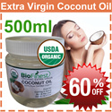 60% OFF - USA Extra Virgin Coconut Oil (500ml) ★ USDA Certified Organic - Cold-Pressed Unrefined