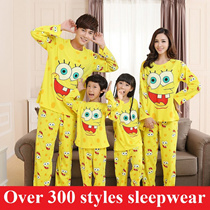 2016 Spring children sleepwear Korean style cartoon pajamas Doraemon cotton pajamas boys and girls pajamas lovers pajamas Long Sleeve Pyjamas family suit men sleepwear women sleepwear couple sleepwear