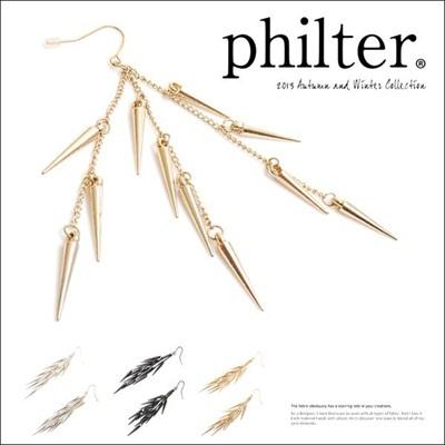 フィルター philter スパイキーチェーンピアス イヤリング 取寄商品の画像