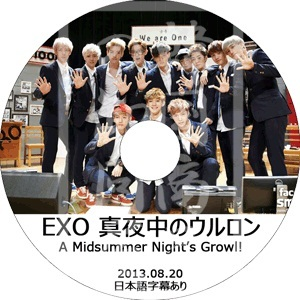 ◆K-POP DVD◆ EXO 真夜中のウルロン A Midsummer Nights Growl[2013.08.20] / エクソ EXO-K EXO-Mの画像