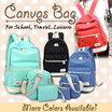 [ 3 in 1 Backpack New Design Added  ] School bags for teenagers school women backpack canvas Leisure