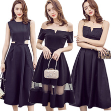2017 New Good Quality Fashion Lady Dress party / work / Dating / Sleeveless vest skirt dress