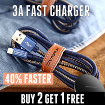 ★JVMAX★4X FASTER★Speed Charge Cable★3A USB Charger★Apple/Samsung/Huawei/OPPO/XiaoMi★