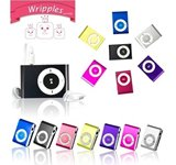 Colorful 32GB MP3 Player Media Mini with Clip Fashoin Metal USB TF Earphone