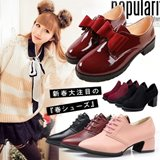 2014HOT SALE! Fashion Women s Petty Martens footwear/PU leather shoes/thick heel Ankle Boots/Korean style short shoes/with lovely bowknot/skidproof Retro shoes
