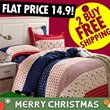 NO.1 BEST! 4 SET High Quality Bedsheet Set - Includes Quilt Cover + Bedsheet Cover + Pillow Case