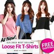 [Limited time sale] ★2015 CNY Super Deals Start now!★♥Made in KOREA~!S/S 2015 Best Selling Casual Loose T-shirts in Korea♥FREE SHIPPING/Casual Long T-shirts / Basic Design / Casual Loose T-shirts / Ma