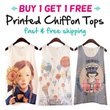 #1 16 Designs BUY 1 GET 1 FREE Chiffon Top - S449